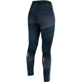 Salming Split Mallas Mujer, deep teal all over print